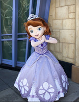 Mascot Costumes Unisex Costum Made Ohlees Lovely Sofia the First princess cartoon movie mascot costumes customize party birthday chirlden gift toys facrory price animal mascot