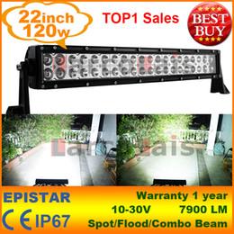 120W 22 inch LED Work Working Driving Light Bar Car Truck Spot Wide Floodlight Beam SUV ATV OffRoad Fog Lamp 12V 24V