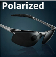 Resin Lenses night vision glasses - Aluminum Magnesium Alloy Polarized Sunglasses For Men Male Bike Sport Driving Sun Glasses day dimming night vision glasses