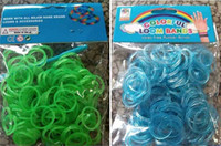 Wholesale Colorful Rainbow Loom kit late Rubber band loom Bands bracelet amazing gift for children single colors handmade DIY bands