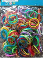 Unisex 8-11 Years Multicolor Colorful Rainbow Loom kit late Rubber band loom Bands bracelet amazing gift for children Mixed colors handmade DIY 2014 New & Hot DHL Free