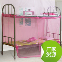 Wholesale Traditional old fashioned single mosquito nets encryption students dormitory bunk beds double flat top deals with mosquito nets