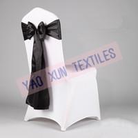 satin chair sash - Black Satin Chair Sash Used For Wedding Spandex Chair Cover