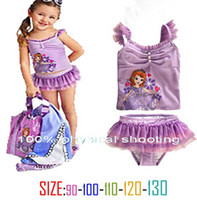 Wholesale 9 off new arrivals Summer Set Fashion High grade FROZEN ELSA ANN Sophia girls swimwear drop shipping on sale in stock set KP