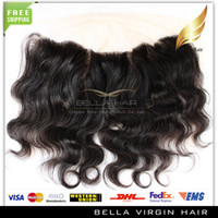 Wholesale Lace Frontal Closure Brazilian Body wave Ear to Ear Lace Frontal Human Hair Extensions Lace Closure Bella Hair Products
