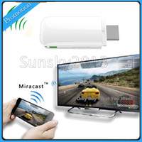 Cheap iPush W1 D2 Multi-Media WiFi DLNA AirPlay Display Receiver for Windows IOS Smart Android TV Box Media Player Mini PC HDMI TV Antenna 10PCS