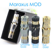 full Mechanical mod Electronic Cigarette mod body Maraxus full Mechanical mod Stainless steel and cooper material colors MOD VS chiyou nemesis KING MOD for 18650 battery ELECTRONIC CIGARETTE