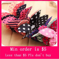 Wholesale Min Order Mix Jewelry order Fire sale Vogue Style Big Rabbit Ear Bow Headband Ponytail Holder Hair Tie Band H0225
