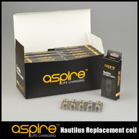 Replaceable 1.8/1.6ohm Metal Wholesale - Original aspire coils for Aspire Nautilus tank atomizer nautilus replacement coil Free Shipping