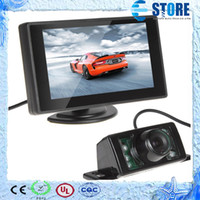lcd monitor - 4 Inch TFT LCD video input rearview car monitor night vision reverse rear view camera for backup parking M