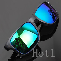 Resin Lenses Sports Pilot Wholesale - DHL free shipping 2014 Hot New 13 Colors Choose Men UV400 Cycling Riding Bicycle Fashion Protective Outdoor Sports Sunglasses