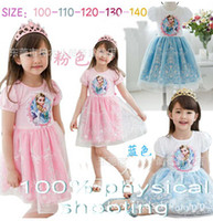 Wholesale 9 off Fashion Cute girls pastoral style dress summer new FROZEN ELSA AN princess dress rop shipping on sale in stock BJ