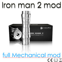 iron man mod - Iron man Maraxus full Mechanical mod cooper chrome material MOD VS chiyou nemesis KING mods for battery ELECTRONIC CIGARETTE DHL