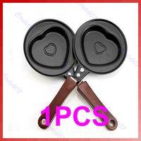 Wholesale PC BBQ Outdoor Heart Shape Egg Pancake Mini Non Stick Pot Fry Frying Kitchen Pan