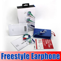 Wholesale New Arrival FreeStyle Sport in Ear Headphones with MIC Control Talk earphone with retail box and handbag case goodbiz