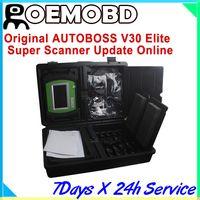 For BMW autoboss pc max - 100 Original AUTOBOSS V30 Elite Super Scanner autoboss pc max diagnostic tool Update Online English Spanish Russian