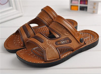 Wholesale Summer Men s Leisure Korean Style PU Leather Sandal For Sandbeach