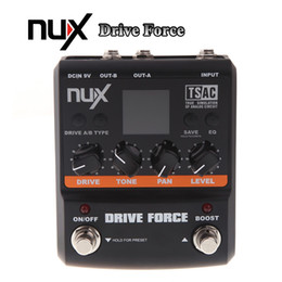 Wholesale NUX Guitar Drive Force Modeling Stomp Simulator Electric Effect Effectors Pedals Models Color Screen Musical Instrument Parts I299