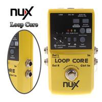 al por mayor nux pedales-NUX Loop Core Violao guitarra eléctrica Pedal Efecto 6 horas de grabación incorporada en patrones de batería de instrumentos musicales de piezas I301