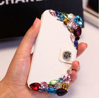 Cheap For Apple iPhone for iphone case Best Leather colorful crystal high quality hard case