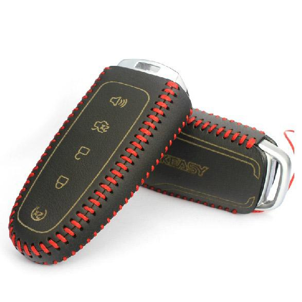Geniune Leather Remote Smart Key Fob Case Holder Cover For