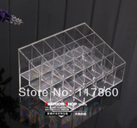 display boxes - Plastic lipstick display rack transparent square grid make up holder lip gloss storage cosmetics storage rack jewelry box