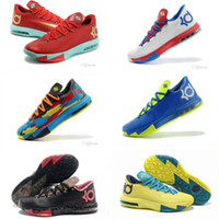 Low Cut Men Spring and Fall Cheap KD Basketball Shoes KD 6 VI What the KD Sports Shoes Basket Ball Boots Mens Trainer Kevin Durant KD VI 6 Athletics Footwear Sneakers