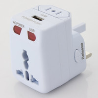 Wholesale Genuine Universal Travel abroad converter with USB universal power outlet British standard German standard American standard plug