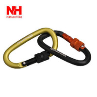 Camp Tools Naturehike NH15A005-H Multifunctional aluminum carabiner keychain hiking backpack outdoor equipment fast hang buckle bottle locking buckle 6cm