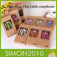 Wholesale Mic and volume control Stereo Headsets In Ear Earphone Earbuds Headphones for Samsung note3 N7100 i9300 i9600 S5 S4 S3 color with box