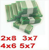 Wholesale Drop shipping x7 x6 x7 x8 cm double Side Copper prototype pcb Universal Board for Arduino
