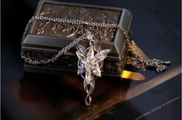Fashion Jewelry COOL The LOTR 18K White Gold filled Arwen Evenstar White Sapphire CZ Necklace Pendant for wedding gift