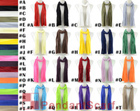 scarf necklace - 12PCS Colors Available DIY Pendant Scarf Fabric Soft Solid Polyester Tassels Scarf Necklace Scarf Wrap SC0014MIX