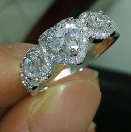 size 6 7 8 9 10 Free shipping 100% New Brand design new fashion jewelry 10kt white gold filled white topaz CZ Gem women weddiing Ring