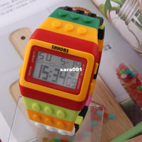 Unisex plastic strap - SHHORS Jelly LED Watch Rainbow Casual Watches Plastic Strap fashion Digital watches for unisex New