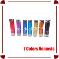 Electronic Cigarette Battery  WL-EC-377 2014 Newest Colorful colored nemesis tube e-cig nemesis mod battery mod vaporizer e cig fit with 18650 battery