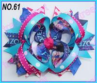 Wholesale fashion frozen hair bows ring hair bows boutique hair bows layered bows