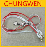 Wholesale flat Noodle mm Aux Audio Auxiliary Cable Jack Male Plug stereo Cord Wire for iphone s s Mp3 Players Speakers Cell phone