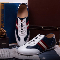 Lace-Up Men Spring and Fall British style Fashion White Dark blue Black mens sneaker shoes genuine leather men casual outdoor shoes brand mens flat shoes