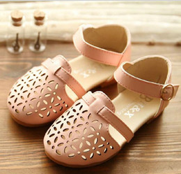 Wholesale 2014 Summer New Arrival Shoes Size Children Girls Fashional Leisure Hallow Floral Shoe Korean Kid s Solid Sandals Princess Shoes GX376