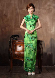 Wholesale 2015 New Fashion Plus Size Ethnic Clothing green Chinese Long Prom Party Dress For Women Y632 Green