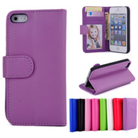 Wholesale For iphone S Flip Wallet Leather Case Cover With Photo Frame Photoframe Credit Card Holder Stand