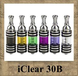 Wholesale Innokin iClear30B Atomiseur Original itaste B Clearomiseur Dual Coil Remplaçables en Bas de ml en Acier Inoxydable Prex Cuve en Verre de Tube vapore