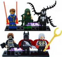 Wholesale Minifigures winter Cyclops Green arrow batman odin venom soldier legos Building Blocks Legoland Model DIY Toys Figures toys on box