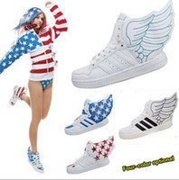 Wholesale New Fashion wings shoes high top sneakers skate board shoes for men and women