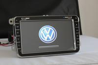 Wholesale Hot inch Touch Screen Car DVD Player GPS Navi For VW Tiguan Golf New Polo Skoda Touran Bora series Frees shipping Free Map