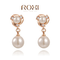 Wholesale Christmas gift Imitate pearl earrings Gift to girlfriend is beautiful Pure hand made bring you different elegant