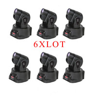 Wholesale 6XLOT power W multi color change DMX controller LED Mini moving head spot light W STAGE LIGHTING