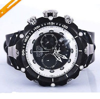Sport Men's Chronograph Invicta Reserve Venom Mens Stainless Steel Chronograph Black Rubber Watch 11708