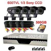 Box/Body Guangdong China (Mainland) Yes High Resolution 600TVL Waterproof 84IR CCTV Camera Security System 4CH H.264 DVR